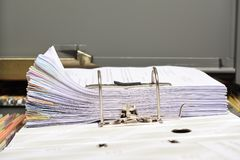 Stack Document file. Pace on Cabinet in office royalty free stock photography
