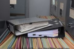 Stack Document file. Pace on Cabinet in office royalty free stock photos