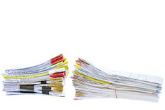 Stack of document Royalty Free Stock Images