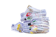 Stack of document Royalty Free Stock Photos
