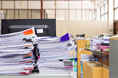 Stack of document Royalty Free Stock Photography