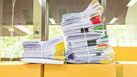 Stack of document Stock Photos