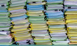 The stack of document in the office. The stack of document waiting for management Stock Photos