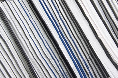 Stack of documents. Diagonal stack of documents. Background Royalty Free Stock Images