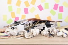 Stack documents stock images