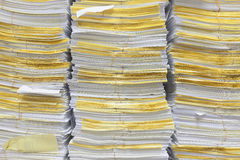 Stack of documents for background and texture. Stock Photo