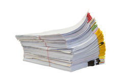 Stack of documents with colorful Royalty Free Stock Photography