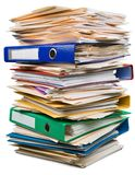 Stack of Documents / Files. Stack files paperwork documents stack of paper isolated paper work royalty free stock photo
