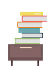 Stack of Documents illustration in Flat Design. Royalty Free Stock Images