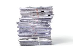 Stack of Documents Stock Photos