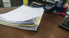 Stack documents Stock Photography