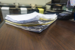 Stack documents Stock Photo