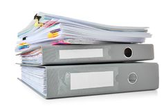 Stack of documents royalty free stock photos