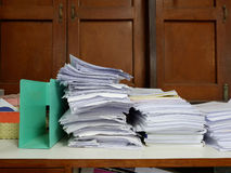 Stack of Documents at window Royalty Free Stock Photography