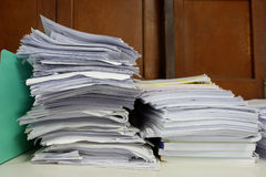 Stack of Documents at window Stock Photography