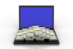 Stack of Dollar Royalty Free Stock Photography