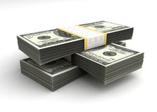 Stack of Dollar. (with Clipping path vector illustration