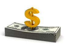 Stack of Dollar. (computer generated image royalty free illustration