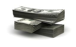 Stack of Dollar. (computer generated image Stock Illustration
