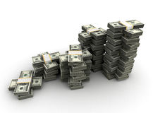 Stack of Dollar Stock Photography