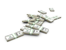 Stack of Dollar Bank Notes Royalty Free Stock Photography