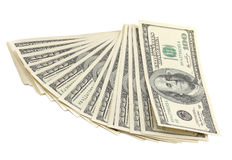 Stack of dollar banknote Stock Images