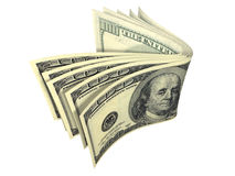 Stack of dollar banknote isolated Royalty Free Stock Photo
