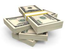 Stack of dollar banknotes. Royalty Free Stock Photo