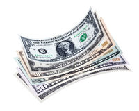 Stack of dollar bills Royalty Free Stock Image