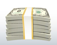 Stack of Dollar Bills. With clipping path vector illustration