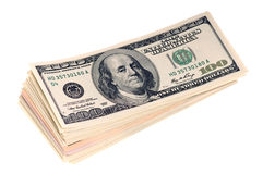 Stack of Dollar Bills Stock Photography