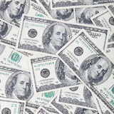 A stack of dollar bills as a background Stock Photography