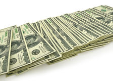 Stack of dollar bills. Stock Image