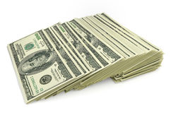 Stack of dollar bills. 3d illustration Royalty Free Stock Photo