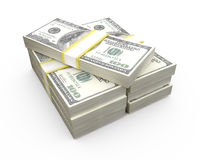 Stack of Dollar Bills Royalty Free Stock Photos