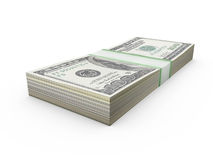 Stack of Dollar Bills Stock Images