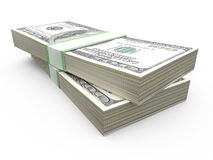 Stack of Dollar Bills Stock Image