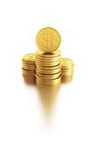 Stack of dollar coins vector illustration