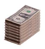 Stack of dollar notes Royalty Free Stock Photos