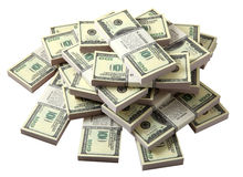 Stack of dollars royalty free stock photos