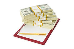 Stack of dollars Royalty Free Stock Images