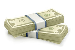 Stack of Dollars. Computer illustration Royalty Free Stock Photography