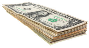 Stack of dollars banknotes_1 Stock Photos