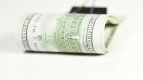 Stack dollars with clip stock footage