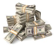 Stack of dollars Stock Image