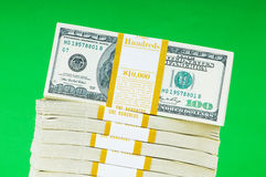 Stack of dollars isolated Stock Photography