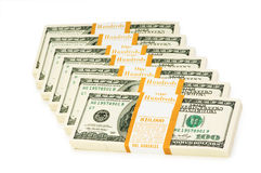 Stack of dollars isolated Stock Image