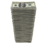 Stack of dollars. Isolated render on a white background Royalty Free Stock Photo