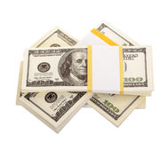 The stack of dollars Royalty Free Stock Image