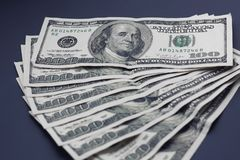 Stack of dollars. Close Up Money Background with USA Dollars Stock Photography